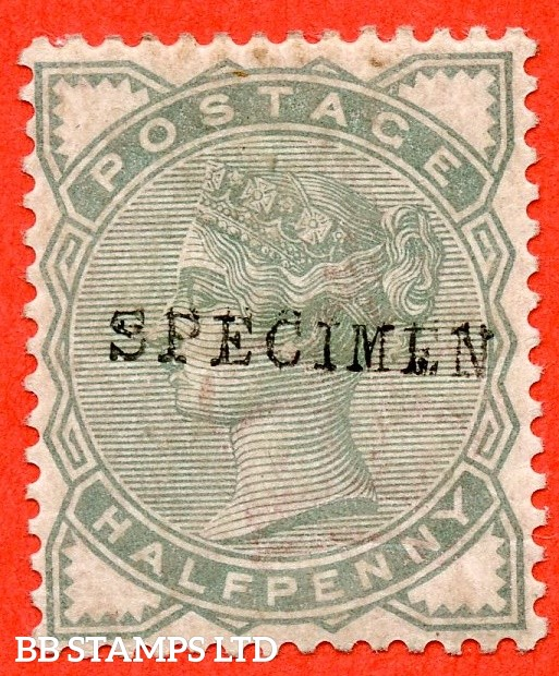 "SG. 165 s. K1 (2) s. ½d pale green. A fine lightly mounted mint example overprinted with "" SPECIMEN type 9 ""."