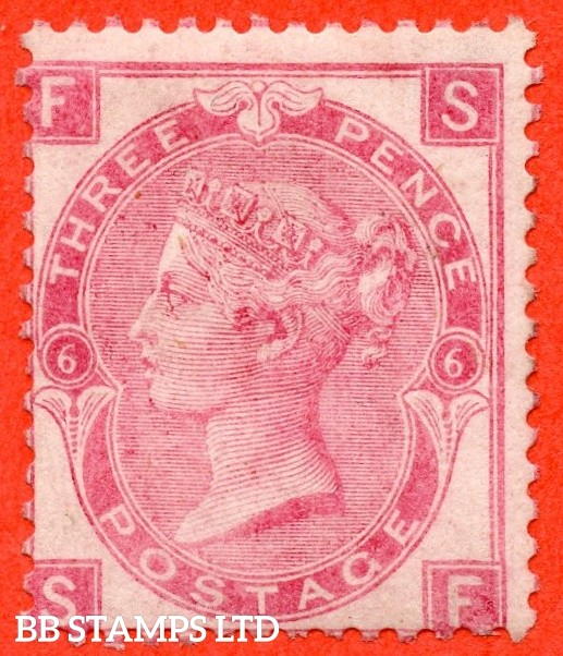 """SG. 103. J31. """" SF """". 3d rose. Plate 6. A very fine UNMOUNTED MINT example."""