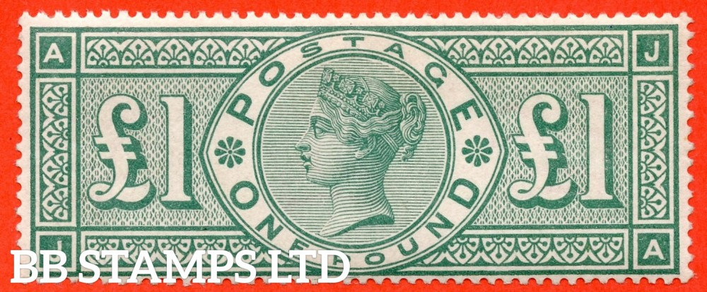 "SG. 212. K17. £1.00 Green "" JA "". A Super UNMOUNTED MINT example of this popular stamp."