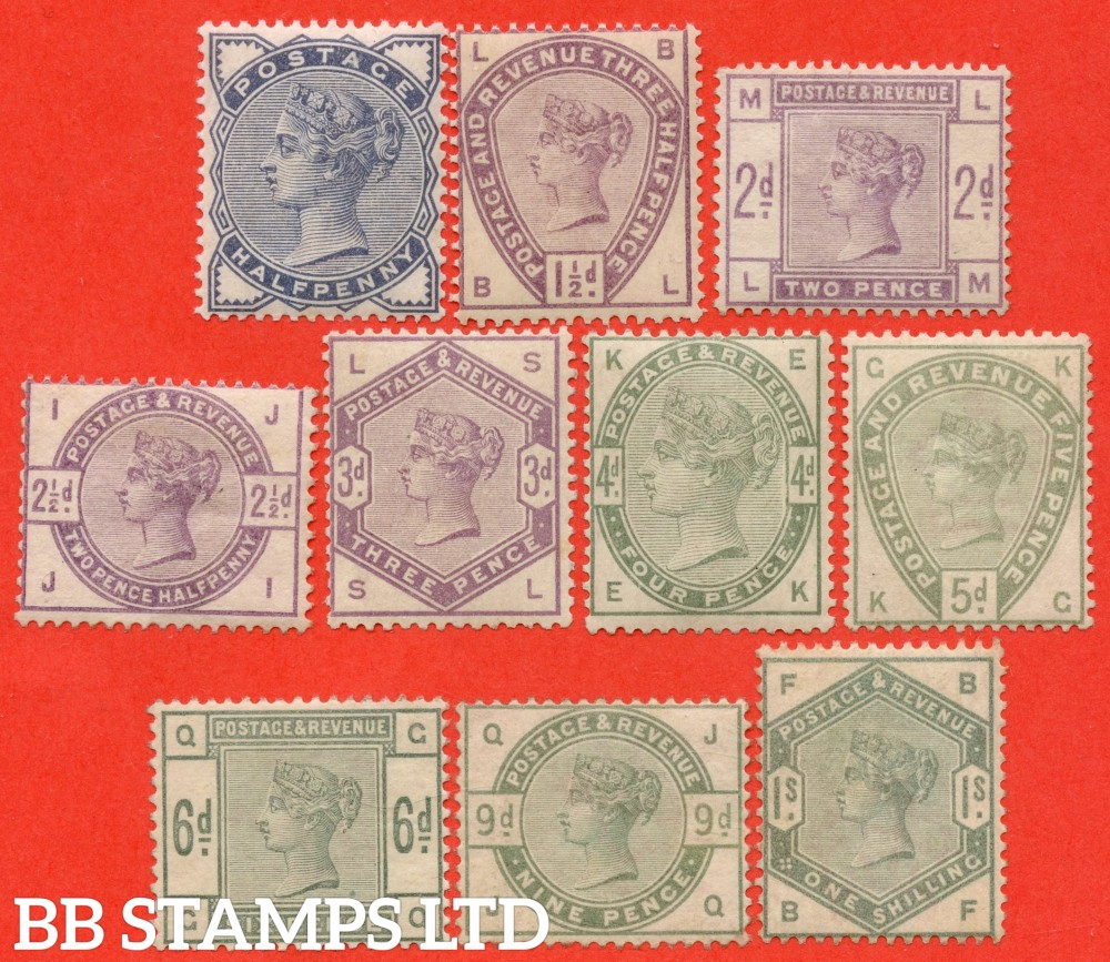 """SG. 187 - 196. K17A - K26. ½d - 1/-. """" Lilac and Green. A fine UNMOUNTED MINT complete set of 10. A difficult set these days."""