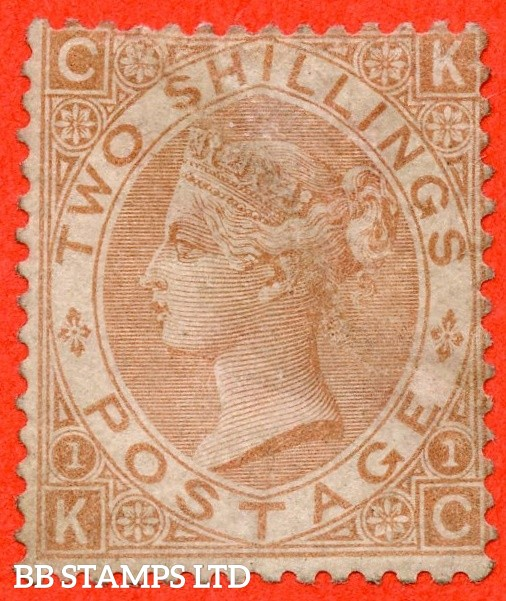 """SG. 121. J120. """" KC """". 2/- Brown. An average mint example example of this scarce Victorian issue. A great way to fill that expensive gap."""