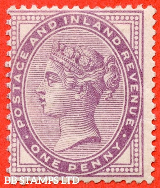 SG. 170. K7 (1). 1d Lilac. A very fine UNMOUNTED MINT example of this difficult stamp.
