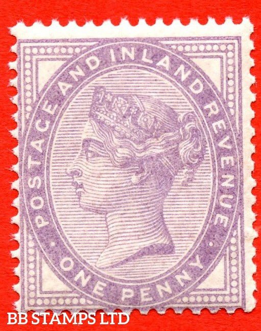 SG. 172a. K8 (2). 1d Bluish lilac. An UNMOUNTED MINT example of this very scarce Queen Victorian shade complete with RPS certificate.
