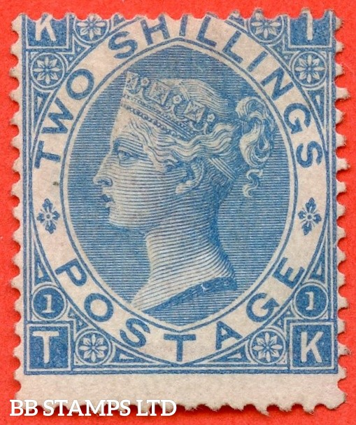 "SG. 119. J118 (2). "" TK "" 2/- Deep - Blue plate 1. A fine mounted mint example."