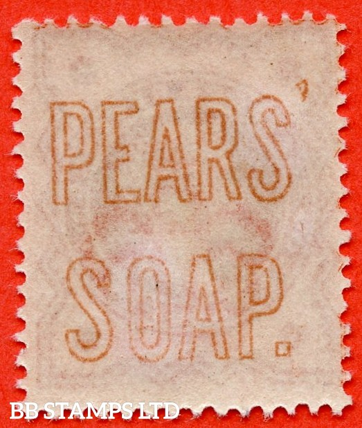 "SG. 197. K27 (2)m. ½d vermilion. A superb UNMOUNTED MINT example with the scarce "" PEARS SOAP "" underprint in orange."