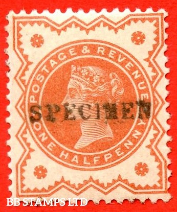 SG. 197s. K27 (2)s. ½d Vermilion. A very fine UNMOUNTED MINT example overprinted by SPECIMEN type 9.