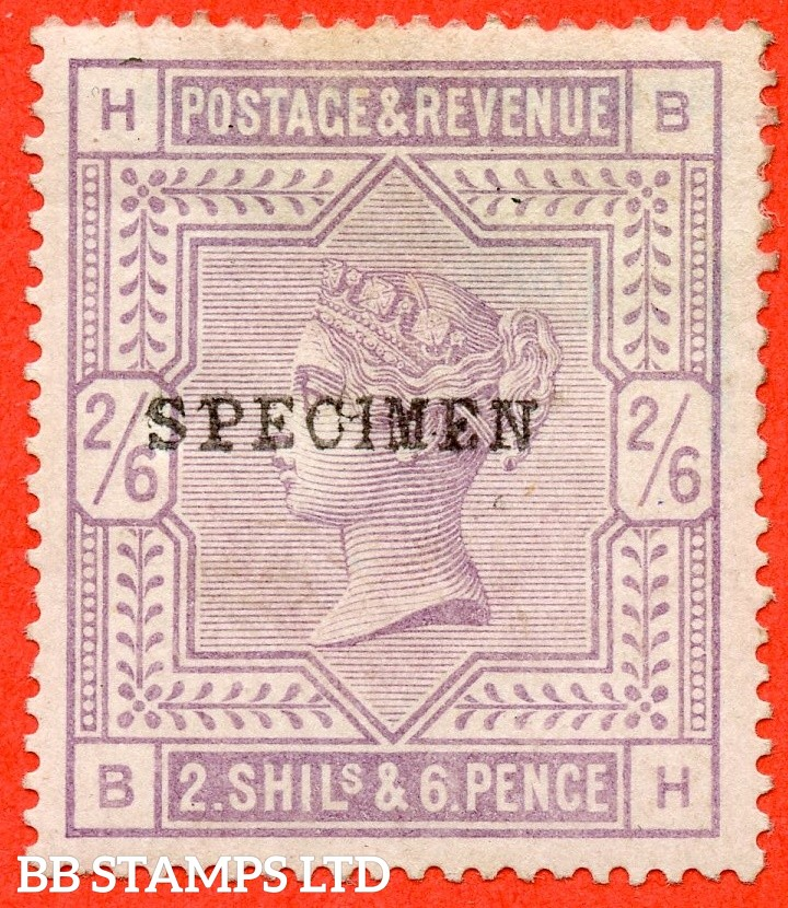 "SG. 178 s. K10 (1) s. "" BH "". 2/6 Lilac. An average mounted mint example overprinted SPECIMEN type 9."