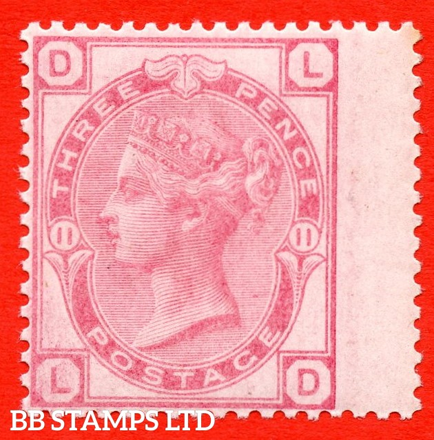 "SG. 144. J36. "" LD "". 3d pale rose plate 11. A very fine UNMOUNTED MINT example."