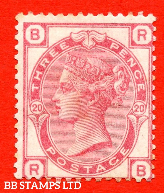 "SG. 143. J44. "" RB "". 3d rose plate 20. A fine mounted mint example."