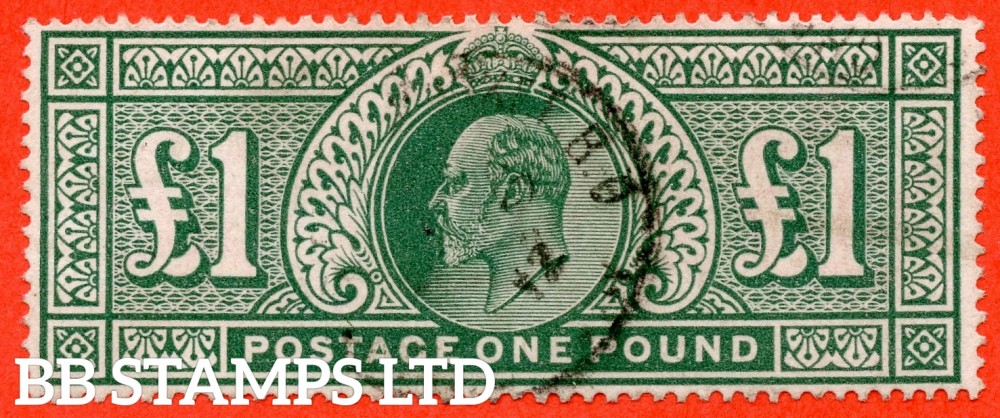 SG. 320. M56. £1.00 Deep Green. A fine used example.