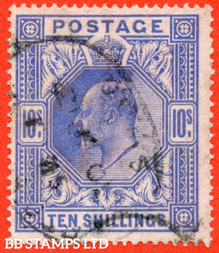 SG. 319. M54 (2). 10/- Blue. A fine used example.