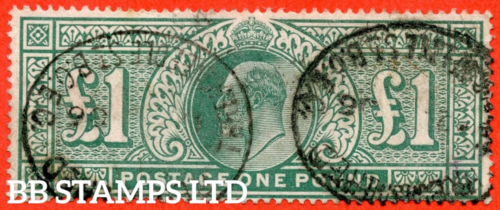 SG. 266. M55. £1.00 Dull blue - green. A fine used example