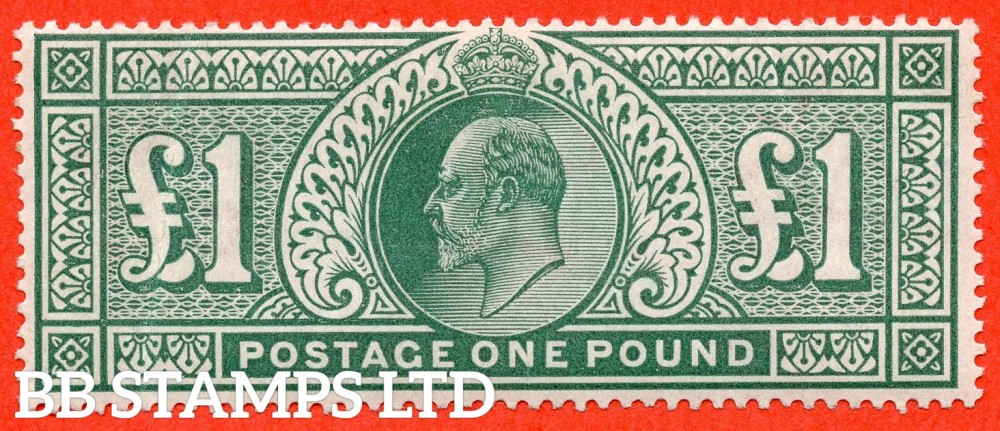 SG. 266. M55. £1.00 Dull blue - green. An average mint example.