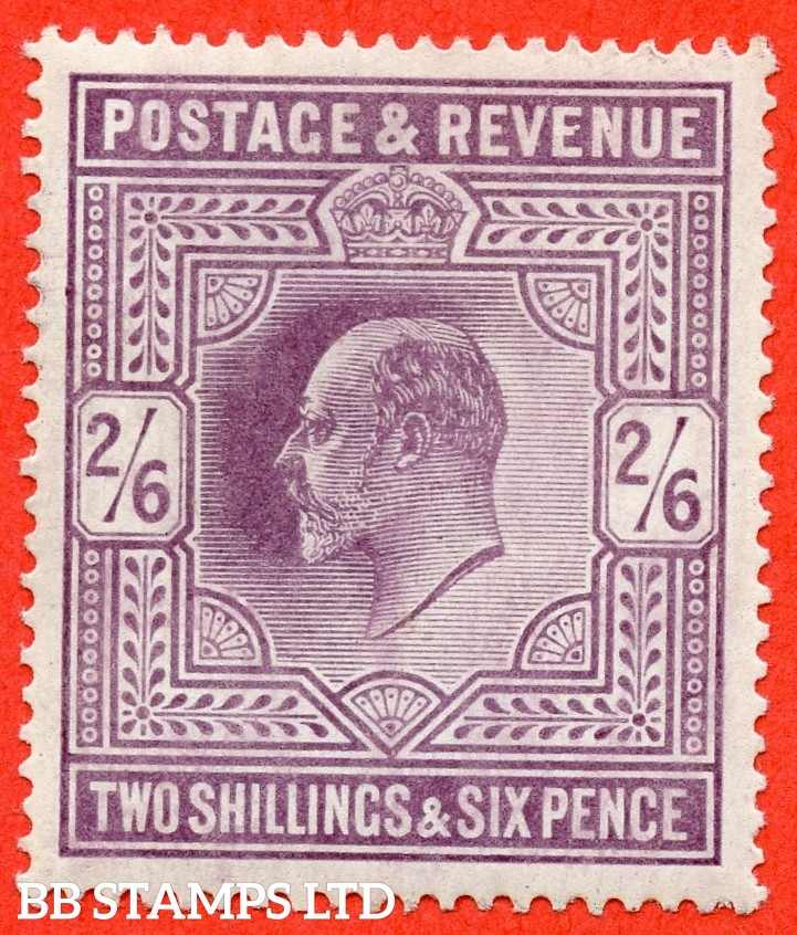 SG. 262. M49 ( 2 ). 2/6d Dull Purple © . A super UNMOUNTED MINT example complete with RPS certificate.