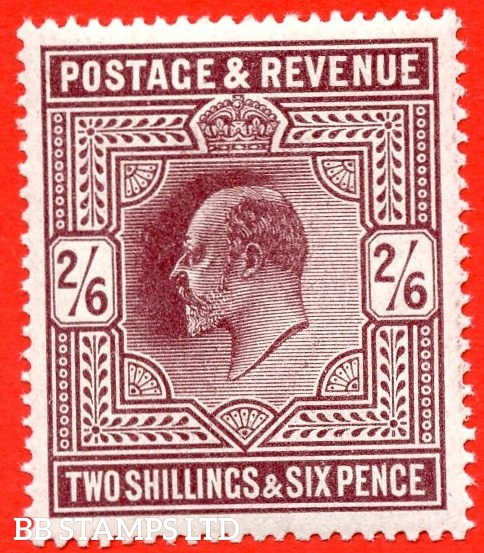 SG. 317. M50 ( 3 ). 2/6 Dark Purple ( Very deep shade ) . A very fine UNMOUNTED MINT example complete with HENDON certificate.