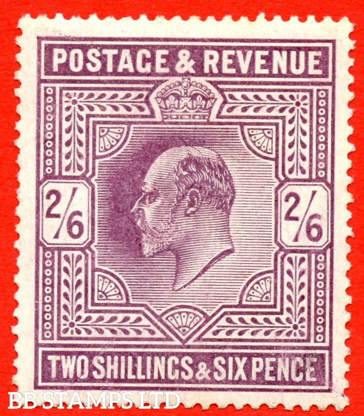 SG. 262 variety M49 ( 3 ). 2/6 Slate Purple. A fine UNMOUNTED MINT example.