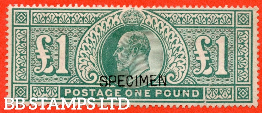"SG. 266 s. M55 s. £1.00 Dull blue - green. A fine mounted mint example overprinted "" SPECIMEN "" type 16."
