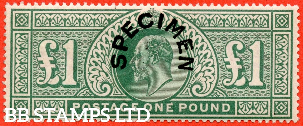 SG. 266 s. M55 t. £1.00 Dull blue - green. A very fine UNMOUNTED MINT example overprinted with SPECIMEN type 17.