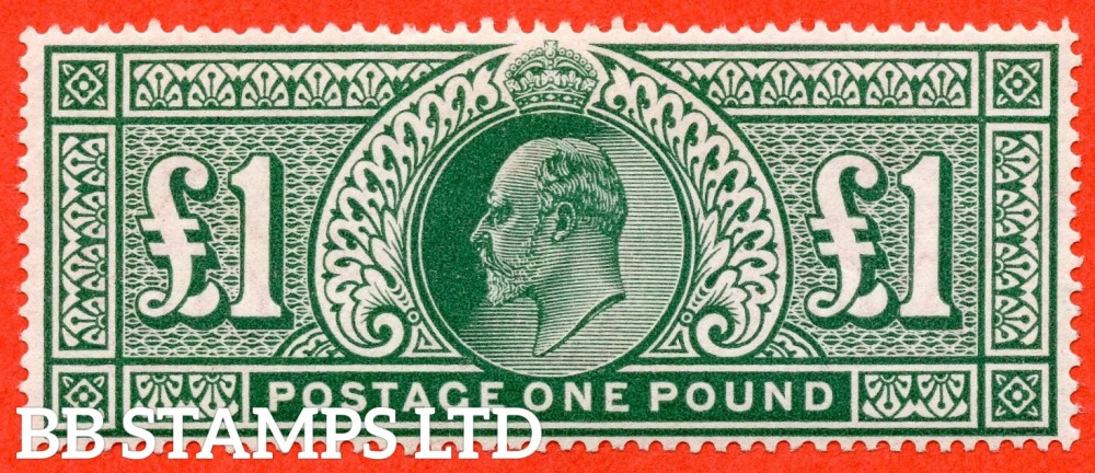 SG. 320. M56. £1.00 Deep Green. A very lightly mounted mint example.