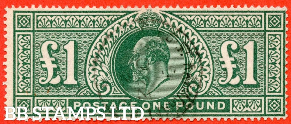 "SG. 320. M56. £1.00 Deep Green. A very fine "" 22nd October "" CDS used example."