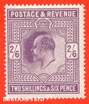 SG. 315. M50 (1). 2/6 Dull Greyish - Purple. A superb UNMOUNTED MINT example of this very scarce Edwardian shade.