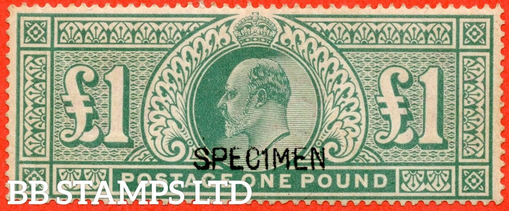 SG. 266 s. M55 s. £1.00 dull blue - green. A fine mounted mint example overprinted SPECIMEN type 16.