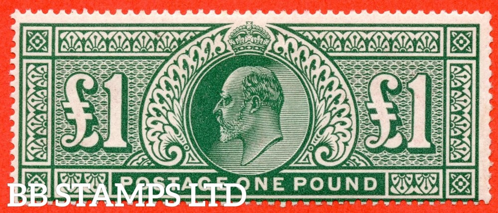SG. 320. M56. £1.00 Deep Green. A fine mounted mint example.
