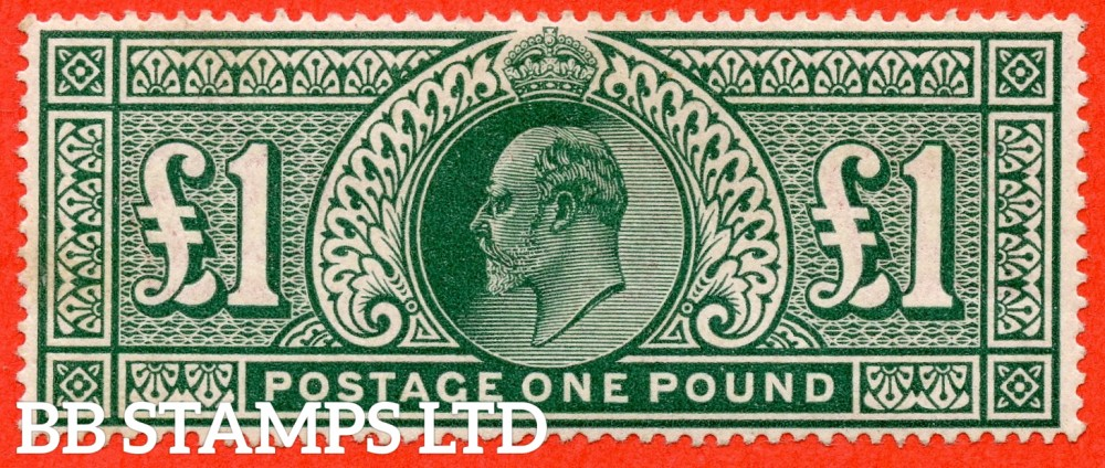 SG. 320. M56. £1.00 Deep Green. A superb UNMOUNTED MINT example.