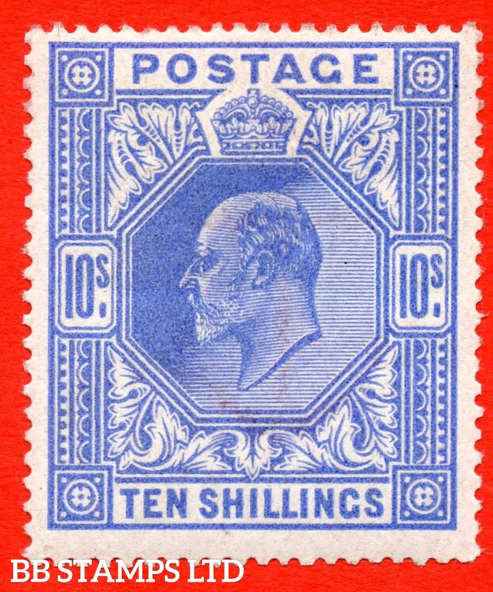 SG. 319. Variety M54 (3). 10/- Deep Blue. A very fine UNMOUNTED MINT example.