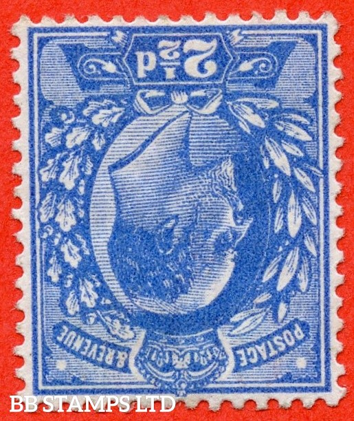 SG. 276 wi.  M17 (2) a. 2½d Bright Blue. INVERTED WATERMARK. A fine lightly mounted mint example of this RARE Edwardian watermark variety.