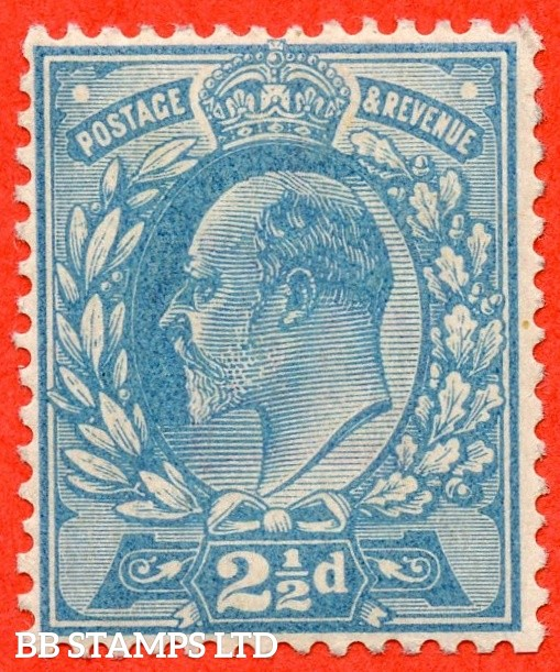 "SG. 230 variety. 2½d. A fine lightly mounted mint COLOUR TRIAL in "" MILKY BLUE "". Scarce in nice quality."