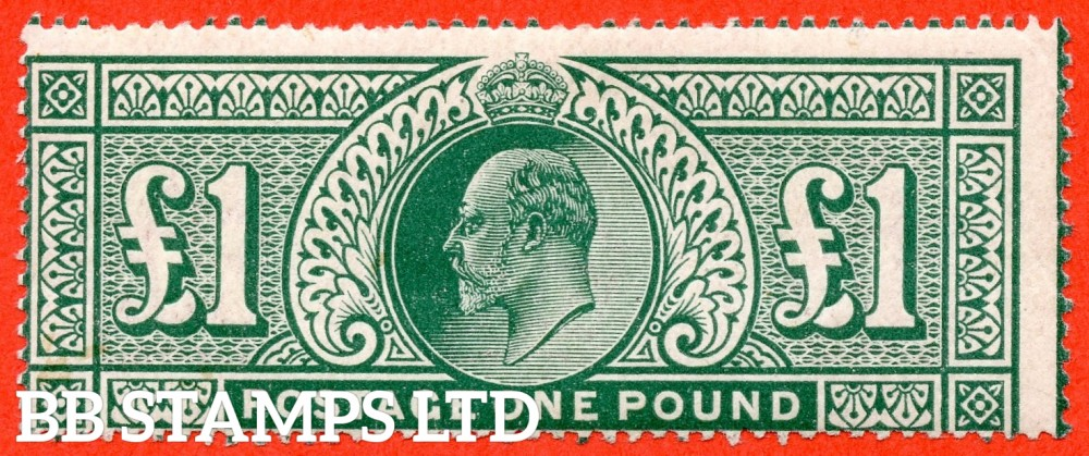 SG. 320. M56. £1.00 Deep Green. An average mointed mint  example.