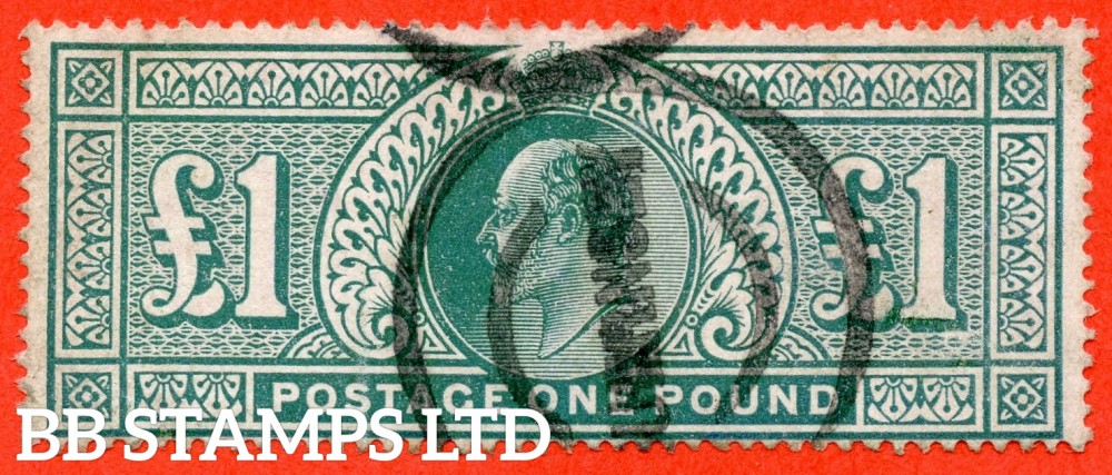 SG. 266. M55. £1.00 Dull blue - green. A good used example.