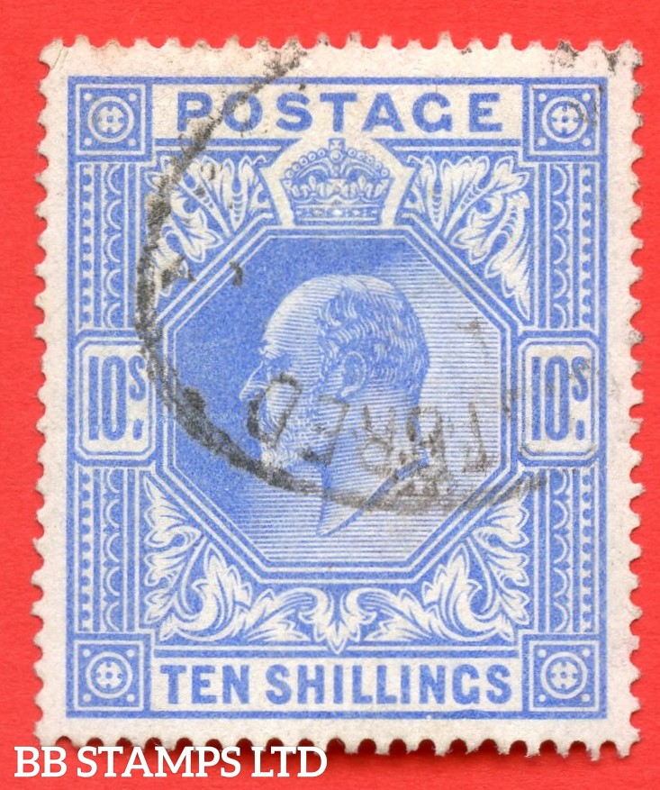 SG. 265. M53 (1) 10/- Ultramarine. A fine used example.