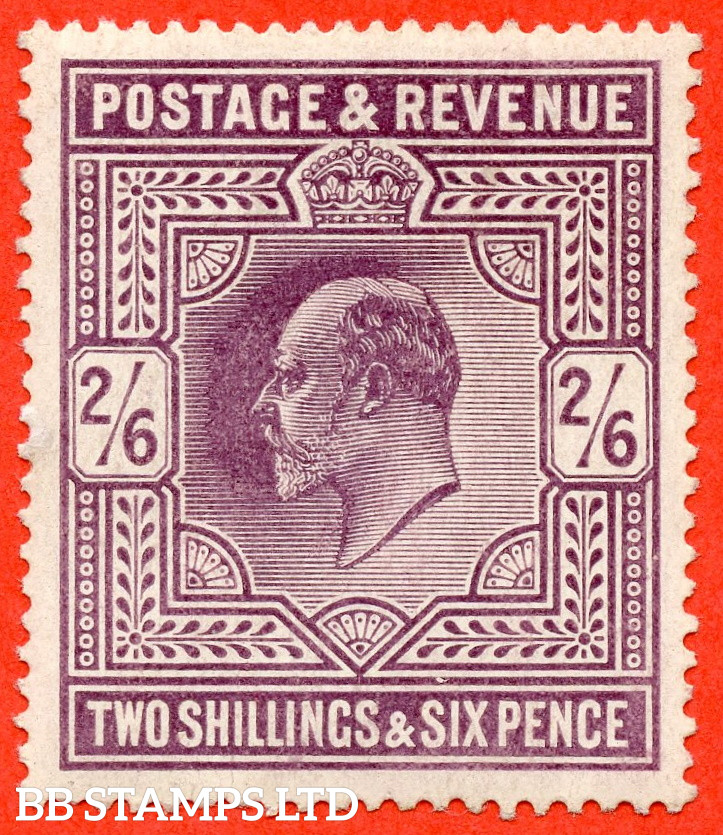 SG. 262 variety M49 ( 3 ). 2/6 Slate Purple. A fine mounted mint example.