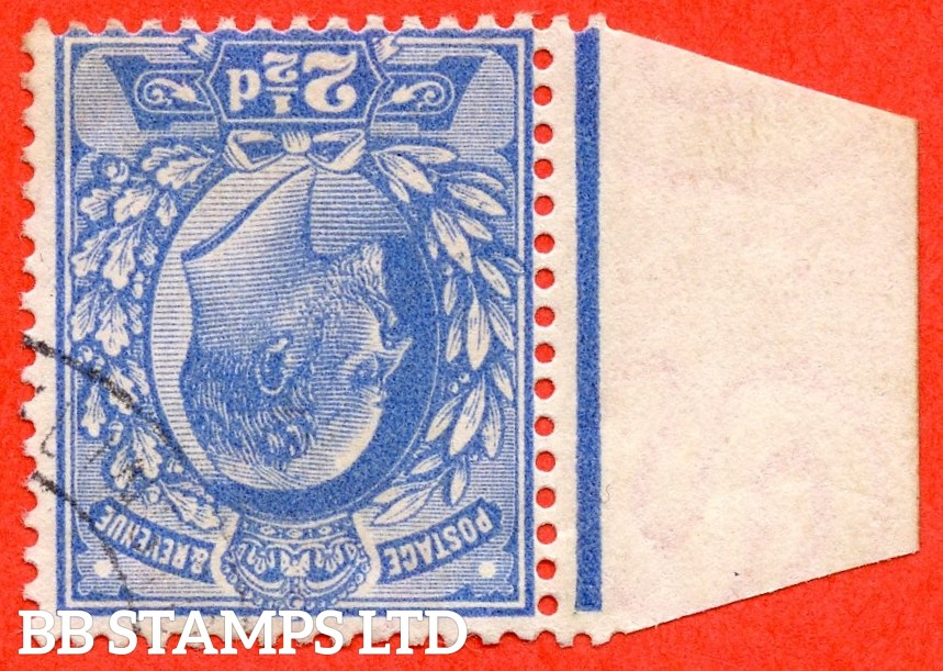 SG. 276 wi  M17 (2) a. 2½d Bright Blue. INVERTED WATERMARK. A superb very fine used left hand marginal example of this RARE Edwardian watermark variety.