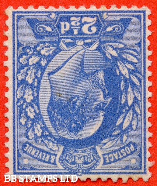 SG. 276 wi.  Variety M17 (1) a. 2½d Deep Bright Blue. INVERTED WATERMARK. A fine lightly mounted mint example of this RARE Edwardian watermark variety. Complete with RPS certificate.