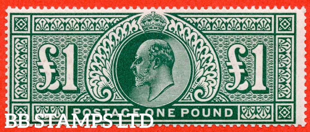 SG. 320. M56. £1.00 Deep Green. A superb UNMOUNTED MINT example with BPA Certificate.