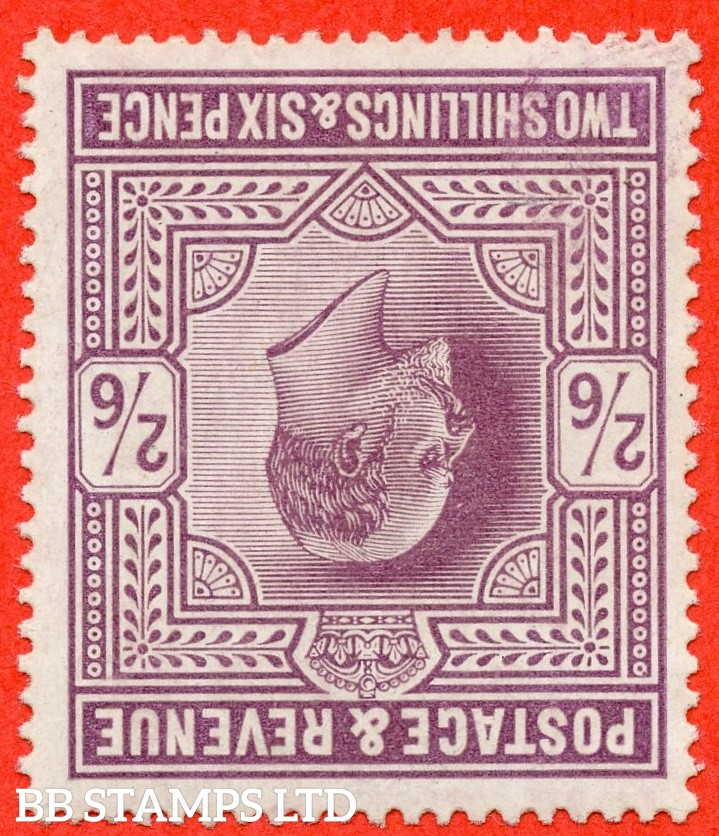 SG. 261 wi. M49 (1) b. 2/6d Pale Dull Purple ©. INVERTED WATERMARK. A super lightly mounted mint example of this RARE Edwardian watermark variety.