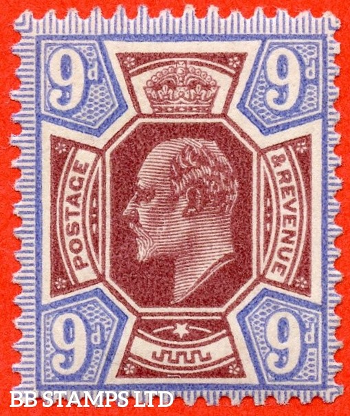 SG. 306. M41 (1). 9d Reddish Purple & Light Blue. A very fine UNMOUNTED MINT example complete with RPS certificate.