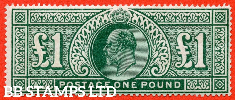 SG. 266. M55. £1.00 dull blue - green. A super UNMOUNTED MINT example .