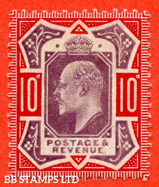 SG. 256. M43 (5) 10d Dull Purple & Scarlet ©. A super UNMOUNTED MINT example complete with HENDON certificate.