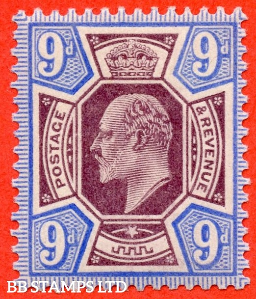 SG. 251. M39 (2). 9d Slate Purple & Ultramarine. A super UNMOUNTED MINT example complete with RPS certificate.