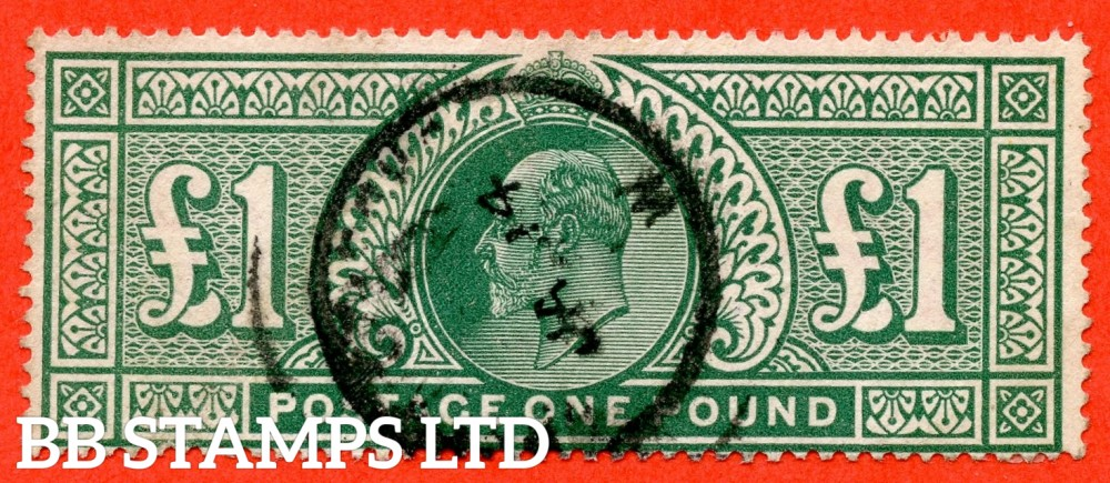 "SG. 320. M56. £1.00 Deep Green. A very fine "" January 14th "" CDS used example."