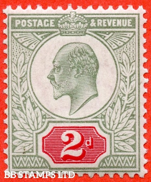 SG. 225. M11 (1). 2d Yellowish Green & Carmine Red. A fine UNMOUNTED MINTexample complete with BPA certificate.