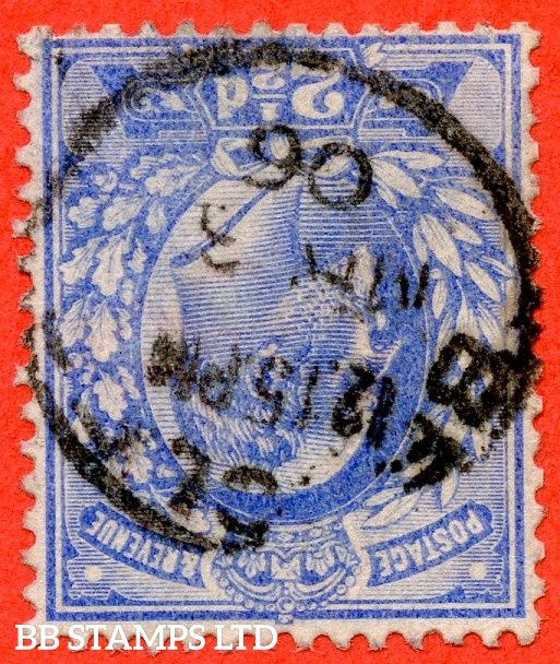 """SG. 230 wi. M16 (2) a. 2½d Ultramarine. INVERTED WATERMARK. A super """" 3rd March 1906 """" CDS used example of this RARE Edwardian variety. Only the second example we have seen. Complete with RPS certificate."""