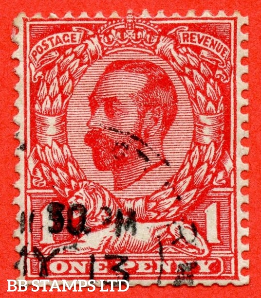 "SG. 337 variety N10 (4) g. 1d deep bright scarlet. Die 1B. A very fine used example with the listed variety "" open top to leaf. ( Row 2/3 of booklet pane number NB5 ) ""."