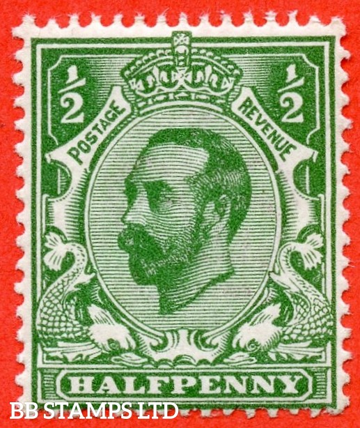 SG. 323. N1 (4). ½d Bluish Green. Die 1A. A super UNMOUNTED MINT example of this scarcer Downey shade complete with Hendon certificate.
