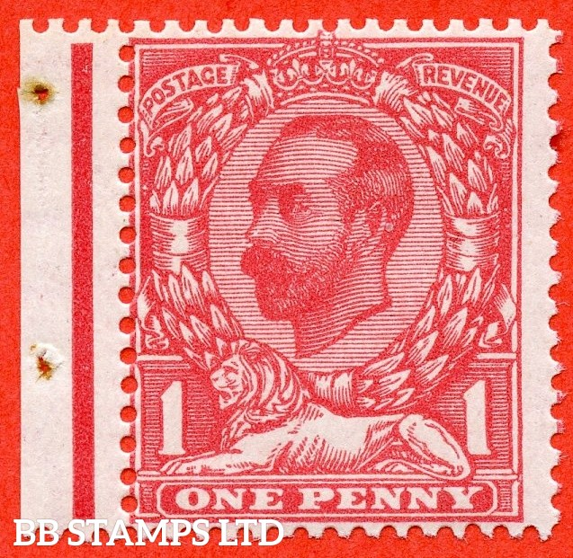 SG. 331. N8 (8). 1d Rose Pink. Die 1B. A very fine UNMOUNTED MINT left hand marginal example of this difficult George V Downey shade variety complete with RPS certificate.