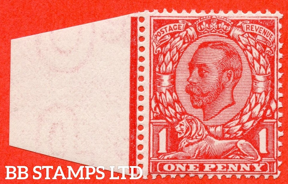 SG. 350 a N13 (1) f. 1d Scarlet. NO CROSS ON CROWN. A very fine UNMOUNTED MINT example of this much scarcer Downey variety complete with RPS certificate.